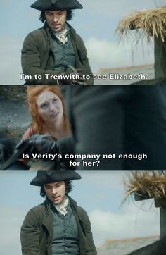 """I'm to Trenwith to see Elizabeth"" - Ross and Demelza #Poldark"