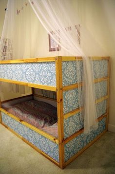 and  have you seen this cute idea for bunk beds - Ikea Kura Hack