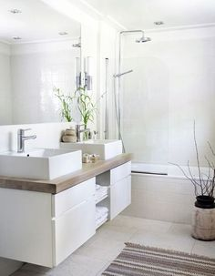 Here are the Small Scandinavian Bathroom Design Ideas. This article about Small Scandinavian Bathroom Design Ideas was posted under the … Bathroom Interior, Modern Bathroom, Small Bathroom, Minimalist Bathroom, Bathroom Mirrors, Mirror Vanity, White Bathrooms, Diy Vanity, Budget Bathroom