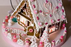 Pretty in Pink Gingerbread House