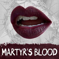 Dark & Bloody Maroon, 100% Vegan & Cruelty Free Matte Lipstick