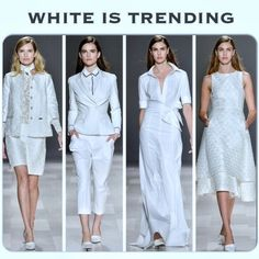 WHITE IS TRENDING THIS SPRING SUMMER SEASON According to PM's fashion trend report & from the runways in NYC, white is trending this Spring/Summer season with pops of color & mixing white with black graphics to add a punch of chic! Its not surprising white is a standard wardrobe go to unless you have children. Wearing white becomes a memory for many years!! The designs this season are simple, short or long, midriffs, crop tops with long skirts are a big fashion hit with various skirt style…
