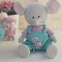 Crochet Doll Pattern, Crochet Toys Patterns, Amigurumi Patterns, Stuffed Toys Patterns, Doll Patterns, Crochet Mouse, Crochet Baby, Knitted Dolls, Crochet Dolls