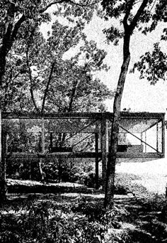 PHILIP JOHNSON: LEONHARDT HOUSE, LONG ISLAND 1956