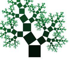 Interactive Pythagoras Tree (alternating)