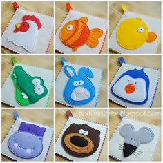 "textileinterior: Rainbow Card ""Animals"""