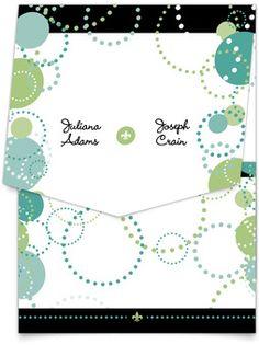 Pocket Wedding Invitations - Circle Bliss