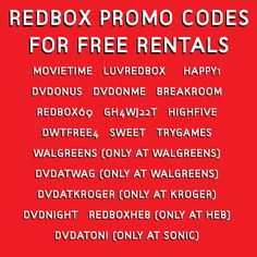 So you're having a movie night and on the hunt for free Redbox codes. It's not just you: We love grabbing freebies anytime we get a chance to and Redbox f. Tv Hacks, Movie Hacks, Netflix Hacks, Free Redbox Codes, Redbox Promo Codes, Redbox Coupon Code, Video Game Rental, Redbox Movies, Netflix Codes