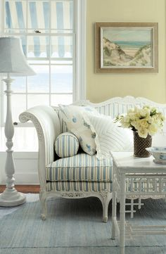 Ralph Lauren Paint in Honour Green adds to the soft shades of a coastal cottage.