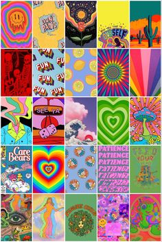 Hippie Wallpaper, Retro Wallpaper, Aesthetic Iphone Wallpaper, Collage Mural, Photo Wall Collage, Small Canvas Art, Mini Canvas Art, Indie Room Decor, Aesthetic Room Decor