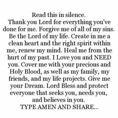 thank you Lord ❣ I pray this in Jesus Christ name AMEN ❤🌼 Faith Prayer, God Prayer, Prayer Quotes, Power Of Prayer, Faith Quotes, Bible Quotes, Fervent Prayer, True Quotes, Prayer Changes Things
