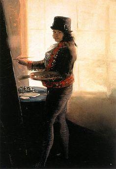 Francisco de Goya (1746–1828). Español. Autorretrato en el taller