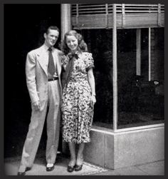Look at that tie! Fantastic. And her dress..1940s awesome! Bill and an unknown blonde 1940's