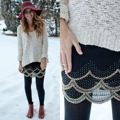 Beaded skirt - BUY @ Shop Twenties Girl Style