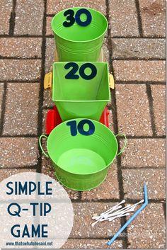 Q-Tip Dart Game Idea