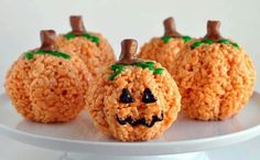 Pumpkin rice bubble balls