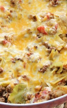 the best recipes of all time: One-Pot Cabbage Casserole (I, personally, use tomato soup instead of tomato sauce and also use diced tomatoes with green chili's) Super good :) (Cabbage Recipes Healthy) New Recipes, Dinner Recipes, Cooking Recipes, Favorite Recipes, Healthy Recipes, Casseroles Healthy, Pork Recipes, Family Recipes, Gastronomia