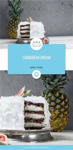 Diese Torte verbreitet Südseefeeling - diese karibische Torte bringt den Geschmack von Urlaub zu dir nach Hause - egal zu welcher Jahreszeit! #caribbean #torte #karibisch #ananas #malibu #backen
