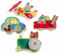 Djeco Puzzle Wkrętki Pojazdy 01682 - zdjęcie 1