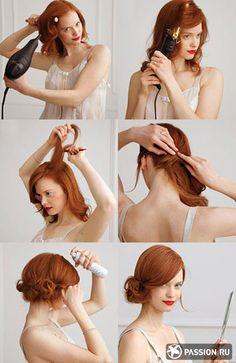 Прически на выпускной для средних волос