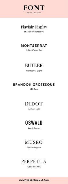 Vintage Graphic Design The Uber Mamas - Font Pairing Font Combo Graphic Design Fonts, Font Design, Web Design, Typography Design, Layout Design, Google Font Pairings, Typographie Fonts, Vintage Logo, Vintage Graphic