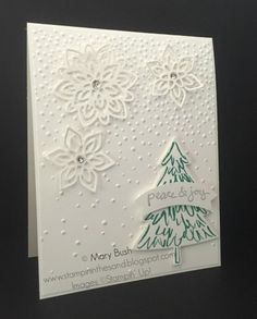Stampin' in the Sand: Card: Flourish Flakes For Christmas | Stampin' Up…