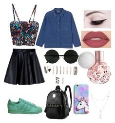 """""""Color Day Every Day"""" by maria-plx on Polyvore featuring adidas, Monki, MSGM, Forever 21, Smashbox and Charlotte Russe"""