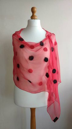 Check out this item in my Etsy shop https://www.etsy.com/uk/listing/483025638/red-silk-shawl-nuno-felted-scarf-evening