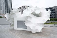 Origami Triangle Architecture : bloomberg pavilion