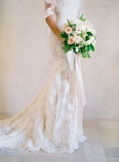 Pin for Later: 23 Wedding Dress Pictures You'll Regret Not Taking 3. From the Waist Down