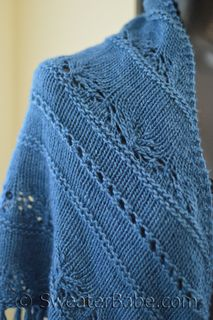 #181 Sapphire Lace Shawl PDF Knitting Pattern #knitting #SweaterBabe.com