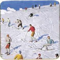 Alfons Walde: Painter of the Austrian Alps – Everett Potter's Travel Report Travel Report, Austria Travel, Alps, Vintage Posters, Skiing, Cool Art, Past, Places, Writers