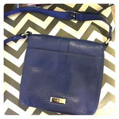 Blue Cole Haan purse  Gorgeous Cole Haan bag, only lightly used. No pen marks inside or outer signs of wear Cole Haan Bags Satchels