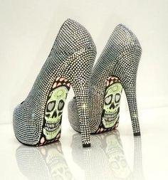 #sugarskulls #dayoftheday #shoes #heels