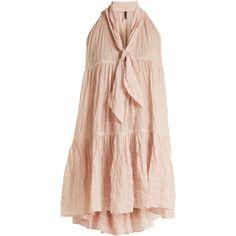 Tiered sleeveless striped dress Lisa Marie Fernandez... ❤ liked on Polyvore featuring lisa marie fernandez