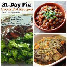 21 Day Fix Crock Pot Recipes via Beach Ready #healthy #weightloss #freezerfriendly