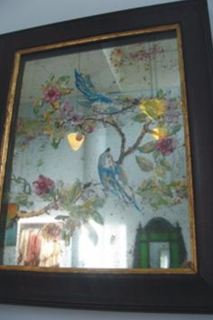 A Chinese Export Reverse Mirror Painting Late 18th Century
