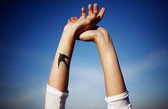 Bird #tattoo on the arm