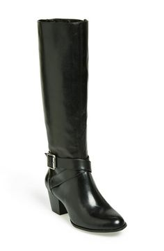 Free shipping and returns on Sole Society 'Vania' Leather Tall Boot (Women) at Nordstrom.com. A wraparound buckle strap at the ankle highlights the timeless profile of a round-toe riding boot cast in burnished leather.