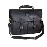 my hubby needs this -Pittsburgh Steelers Debossed Black Leather Anglers Bag