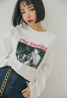 ワイドスリーブビンテージロゴルーズTシャツ | レディース・ガールズファッション通販サイト - STYLENANDA