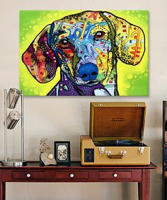 Look at this Dachshund Wrapped Canvas on #zulily today!