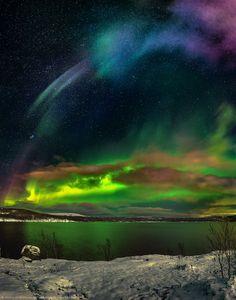 Восход северных сияний — National Geographic Россия