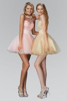 Elizabeth K - Beaded Illusion High Neck Tulle Dress – Couture Candy Tulle Dress, Satin Dresses, Sexy Dresses, Dress Outfits, Casual Dresses, Short Dresses, Girl Outfits, Dresses For Work, Prom Dresses