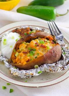 plate-twice-baked-sweet-potato-recipe. This would be a great occasional treat on maintenance
