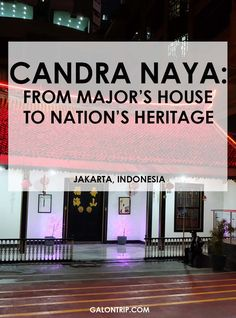 Candra Naya, one of the remaining Chinese style heritage houses in Jakarta, has a long history. From a major's house, abandoned, until the return to its old glory. A must to visit when you're in Chinatown Jakarta Short Break, Old Glory, Walking Tour, Chinese Style, Tour Guide, Jakarta, Travel Pictures, Abandoned, Travel Inspiration