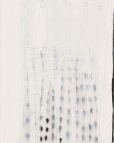 Terri Brooks Veiled Dots, 2013. Oil, enamel and pencil on canvas, 153 x 122 cm.
