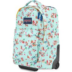 Jansport Wheeled Superbreak Backpack Rolling 85 Liked On Polyvore Featuring Bags Backpacks Blue Padded Bag