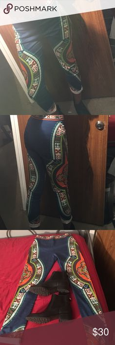 Flying Tomato Aztec Pants I am not big on so much color and this has a lot of it lol. They fit perfect if you are anywhere between 125-140 pounds. My height is 5'9 so they are a little short but the cuff looks real cute with my Cole Han waterproof booties 😎WORN ONCE!!!!! They a extremely new. Flying Tomato Pants