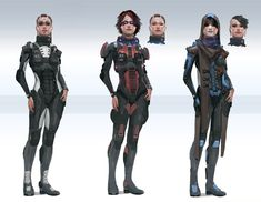 Nuare Studio Concept Art and Illustration - female astronaut pilot spacesuit fighter soldier cyberpunk armor clothes clothing fashion equipment gear magic item   Create your own roleplaying game material w/ RPG Bard: www.rpgbard.com   Writing inspiration for Dungeons and Dragons DND D&D Pathfinder PFRPG Warhammer 40k Star Wars Shadowrun Call of Cthulhu Lord of the Rings LoTR + d20 fantasy science fiction scifi horror design   Not Trusty Sword art: click artwork for source